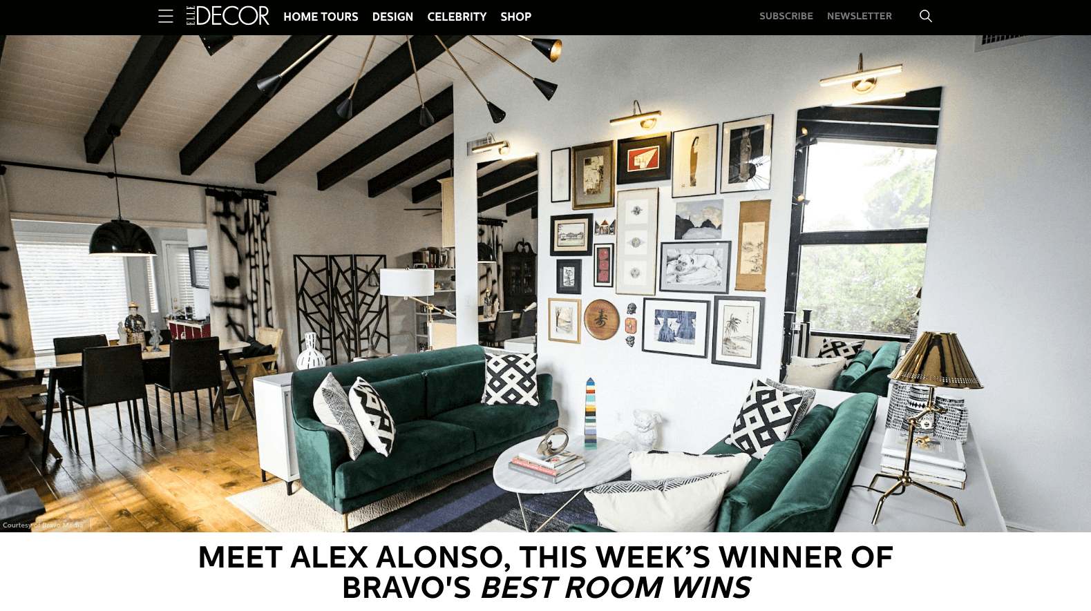 Alex Alonso Featured In Elledecor.com